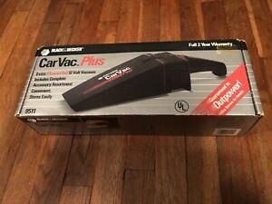Vtg Black & Decker Car Auto Vac Plus 12 Volt Vacuum Cleaner 9511