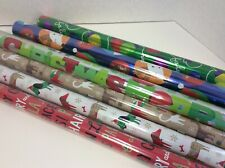 Hallmark Christmas Wrapping Paper - 6 Rolls-3 Foil-2-sided gift wrap Pet-Themed