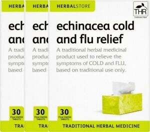 Herbal Store Echinacea Cold & Flu Relief 30 Tablets Traditional Herbal Medicine