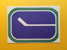 VANCOUVER CANUCKS LOGO 1972-73 O-PEE-CHEE OPC TEAM LOGO CARD # 17