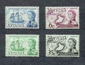 ANTIGUA 1967 SG208-11 300TH ANNIVERSARY OF BARBUDA SETTLEMENT  -  MNH