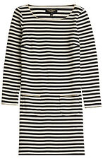 Juicy Couture Stripe Jersey Dress NWT Size Small 4 6 Casual Black White Spring