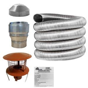 Flue Liner Kit Multifuel Flexible for Installation Wood Burning Stove 316 grade