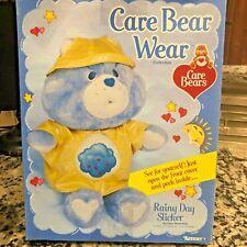 Kenner 1985 Mib Care Bear Wear Rainy Day Slicker for Care Bear Vtg Nos
