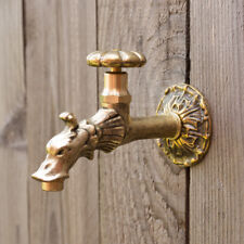 """Tap for Wall Fountain, Gargoyle Made of Brass, like Antique 1/2 """""""