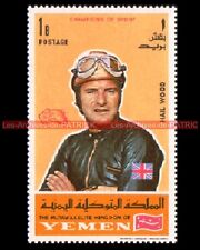 HAILWOOD Mike YEMEN 1969 Pilote Timbre Poste Moto Collection Sello Stamp Stempel