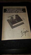 U2 October Rare Original Virgin Records Uk Promo Poster Ad Framed!