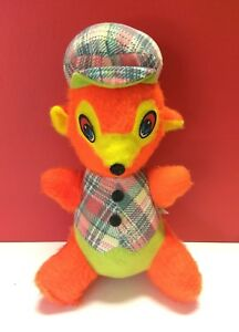 "VTG Rare Commonwealth of Pennsylvania Plush Bear Stuffed Toy Plaid Korea 14"""