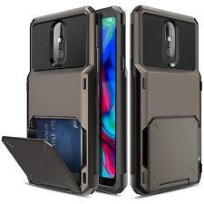 For LG Stylo 5 5+ 5v 5x Case Shockproof Hybrid Wallet Card Holder Slot Holder