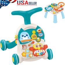 New listing 2 In 1 Learning Walker & Baby Game Pad Center Fun Piano With Sound & Light