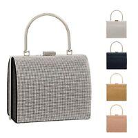 Ladies Diamante Box Handbag Glitter Cocktail Bag Clutch Bag Evening Bag KTL2241