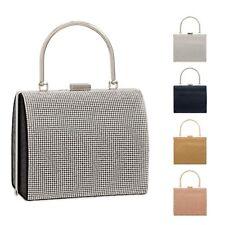 Ladies Diamante Box Handbag Glitter Cocktail Clutch Bag Wedding Bag KTL2241