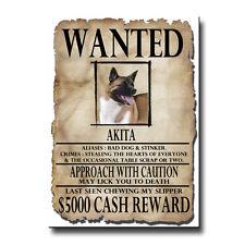 Akita Wanted Poster Fridge Magnet New Dog Funny