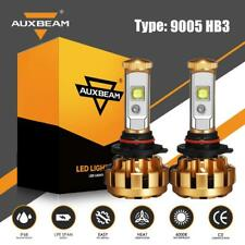 AUXBEAM 9005 HB3 LED Headlight Bulb High Beam Conversion Kit 6000K 6000LM F-16