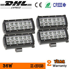 4x LED Light Bar 36W CREE Spotlight SUV offroad 4x4 truck boat 4WD ATV Trailer