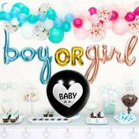 Gender Reveal Decorations - Black Balloon w/Garland Party Decorations and More