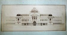 2 GRANDES PHOTOS PROJET DE PALAIS DE JUSTICE 1885 LÉON LEGENDRE ARCHITECTURE