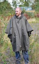 Olive Green EMERGENCY PONCHO - Ripstop One Size Fits All Waterproof Rain Cape