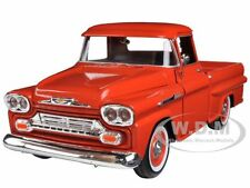 1958 CHEVROLET APACHE FLEETSIDE PICKUP ORANGE 1/24 MODEL CAR BY MOTORMAX 79311