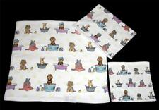 03-Pc Varied Grooming Dogs in Clawfeet & Other Tubs Bath Hand Towels Wash Cloth