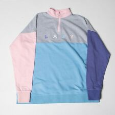 Lazy Oaf Women Panel Zippy Sweater gray pink
