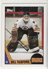 BILL RANFORD BOSTON BRUINS 1987-1988 TOPPS #13 ROOKIE CARD
