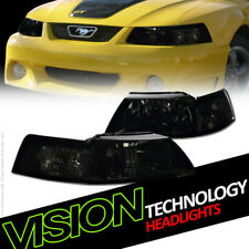 Smoke Tint Headlights Parking Turn Signal Lamps Nb For 99-04 Ford Mustang V6/GT