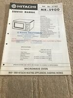hitachi MR-5900 service manual For Microwave Oven