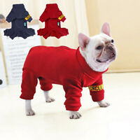 Pet Fleece Jumpsuit Coat Jacket Dog Winter Clothes for French Bulldog Chihuahua