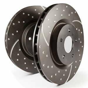 EBC Brakes GD7255 3GD Series Sport Slotted Rotors Fits 05-14 Mustang