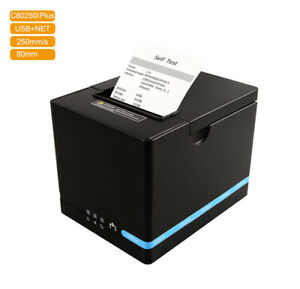 Auto Cut 80mm Thermal Receipt Printer for POS machine Serial + USB + Net Port
