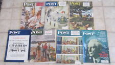7) Vintage Back Issues of Saturday Evening Post, 1946 - 1968, Contents Listed