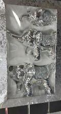 3 Piece Bling Elephant Set crushed crystal diamond new