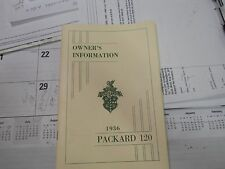 Packard 1936, Owners Manual, Very Nice 56 Page Booklet !