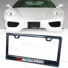 100% Real Carbon Fiber Black Glossy MAZDASPEED License Plate Frame-1PCS