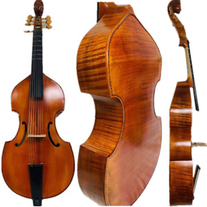 "Baroque Style SONG Maestro 7 strings 27"" viola da gamba,carving angel scroll"