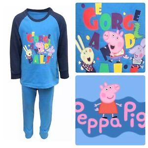 Peppa Pig George Pig & Pals Boys  Pyjamas Pjs Sleepwear 9 Months - 6 Years New