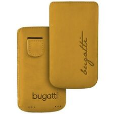 Bugatti Perfect Velvety Honey Nubuk f Samsung Galaxy 3 i5800 Leder Tasche beige