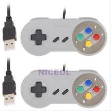 2x Super Nintendo SNES USB GAME Controller Gamepad Joypad for PC Mac Windows PAD