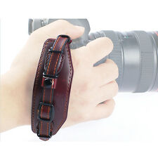 Leather Camera Wrist Hand Strap Grip Band w/ Metal Base for Canon Nikon US Stock