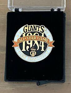 VINTAGE 1984 MLB BASEBALL ALL STAR GAME PRESS PIN W/ Case - SAN FRANCISCO GIANTS
