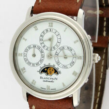 Blancpain Villeret Perpetual Calendar Moonphase SS 5395-1127-55 34mm Serviced