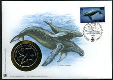 "Tonga 1996 WWF offizieller Numisbrief ""Buckelwahl"""