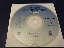 Grolier Cornerstone Home English 3 - Capitalization & Spelling for Grades 3-4