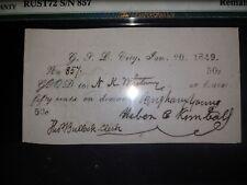 1849 Mormon Obsolete 50c & $2 PCGS65EPQ Signed Brigham Young BOTH POP 1 NOFINER
