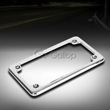 Chrome Motorcycle License Plate Frame for Honda Yamaha Harley Scooter Chopper