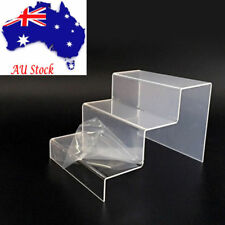 Clear Acrylic 3 Steps Display Riser Stand Jewelry Showcase Ship from AU