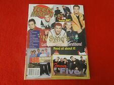 Vintage Pop Teen Rock Magazine Teen Machine March 2000 'N Sync Forever Five G6