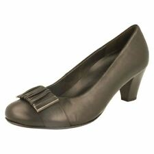 Gabor Court Shoes Block 100% Leather Upper Heels for Women
