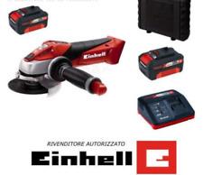 Smerigliatrice Angolare a Batteria 18V TE-AG 18 2x 3AH 4AH Li Flex 115mm Einhell